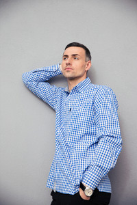 Portrait of a pensive young man in shirt