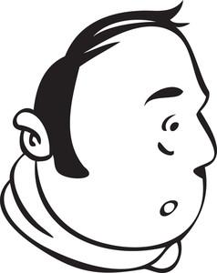 Portrait Of A Shocked Cartoon.
