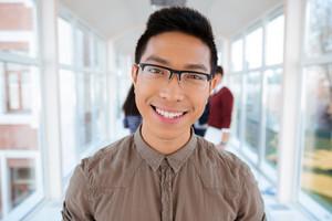 Portrait of a smiling college boy