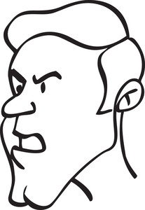 Portrait Of An Angry Cartoon.