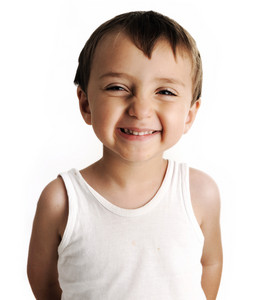 Portrait of an innocent kid  giving you a cute smile