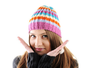 Portrait of beautiful teenage girl, winter clothes