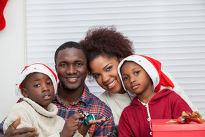 Portrait of black family