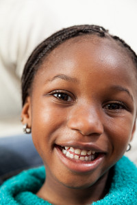 Portrait of black girl smiling