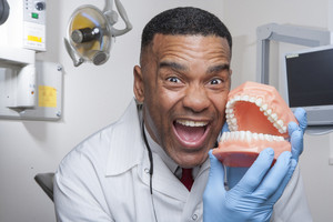 Portrait of dental professional