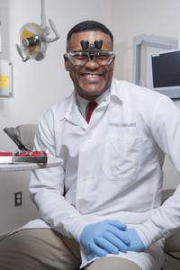 Portrait of dental professional