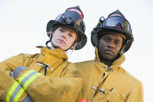 Portrait of firefighters