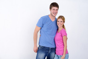 Portrait Of Happy Young Casual Couple