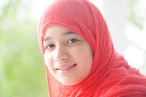 Portrait of muslim girl