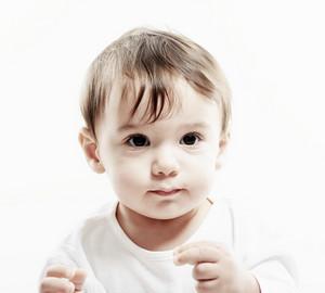 Portrait of very happy smiling baby boy