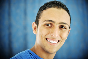 Portrait of young male smiling