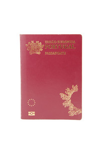Portuguese Electronic Passport (pep) On White