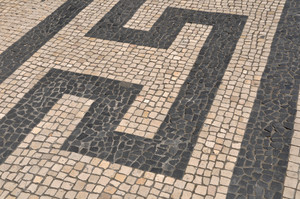Portuguese Sidewalk Pavement