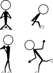 Poses Of Cartoon Stick Figures