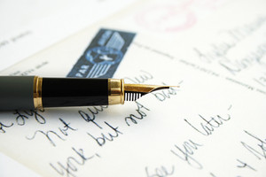 Post Card And Pen