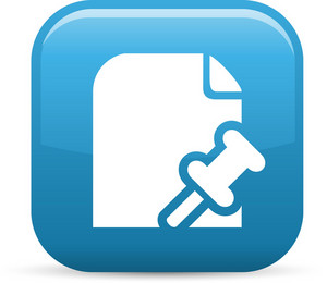 Post File Elements Glossy Icon