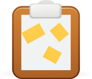 Post It Notes On Canvas Lite Art Icon