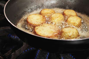 Potatoes Frying In Pan