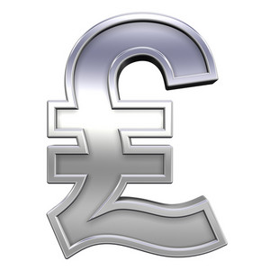 Pound Sign From Chrome With Frame Alphabet Set