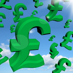 Pound Signs As Symbol For Money Or Wealth