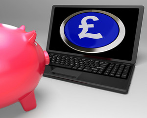 Pound Symbol Button On Laptop Shows Earnings