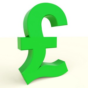 Pound Symbol For Money And Investment In England