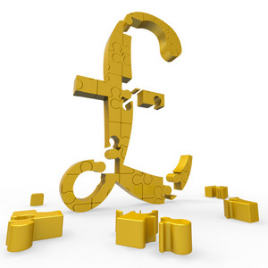 Pound Symbol Shows Money And Investments