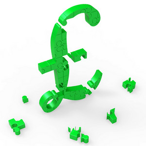 Pound Symbol Shows Uk Profit And Prosperity