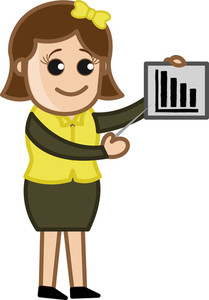 Poverty Stats - Cartoon Bussiness Vector Illustrations