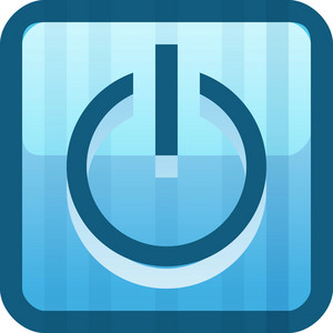 Power Button Blue Tiny App Icon