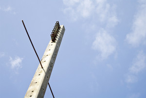 Power Tower with cloud and blue sky