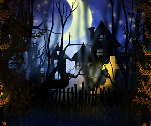 Premade Halloween Backdrop