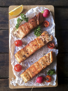 Prepared Salmon Fish Fillets