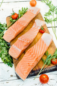 Preparing Salmon Fish