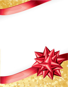 Present Ribbon Bow. Vector.
