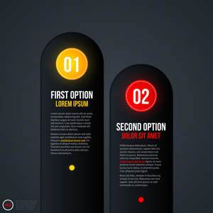 Presentation Template With Two Vertical Options. Eps10