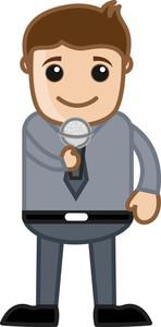 Presenter - Business Cartoons