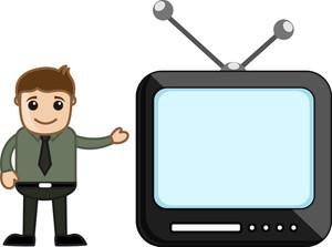 Presenter - Office Character - Vector Illustration