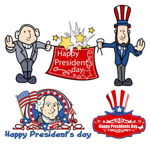 Presidents Day Celebration Designs Vectors