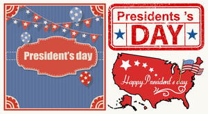 Presidents Day Grunge Graphics