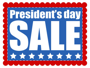 Presidents Day Sale Background