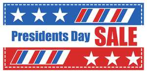 Presidents Day Sale Banner Vector Illustration
