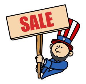 Presidents Day Sale Cartoon Vector Illustartion