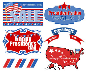 Presidents Day Usa Theme Vector Set Illustrations