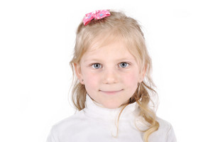Pretty blonde little girl portrait