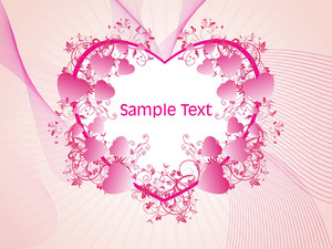 Pretty Decorated Love With Pink Background
