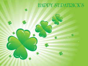 Pretty Shamrock Flourishes Background 17 March