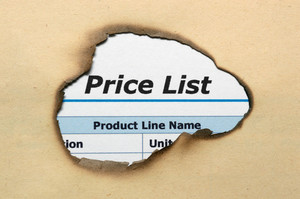 Price List On Paper Hole