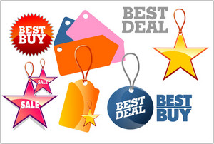 Price Tags And Seals Vector