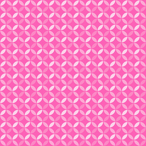 Princess Pink And White Circles Pattern